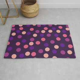 Dupua - Abstract Colorful Retro Style Dots Vintage Vibe Dotted Pattern Rug