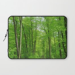 In the forest the fullness of spring, green, Laptop Sleeve