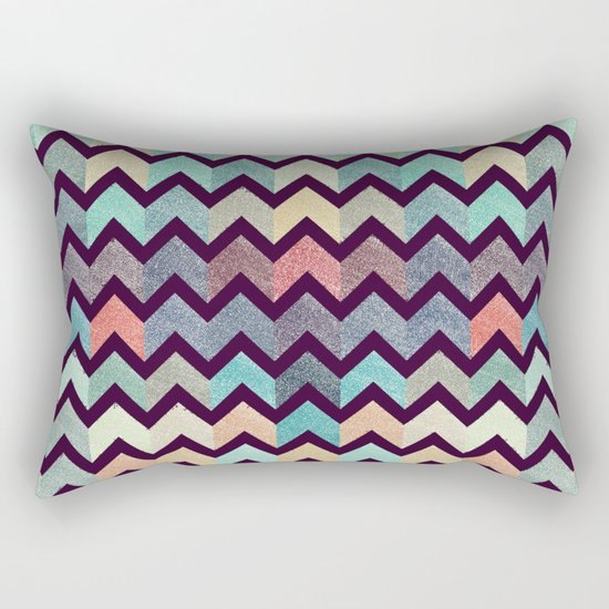 Glitter Chevron III Rectangular Pillow