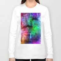 no face Long Sleeve T-shirts featuring face by  Agostino Lo Coco