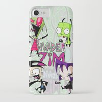 invader zim iPhone & iPod Cases featuring Invader Zim best decoration ideas by customgift