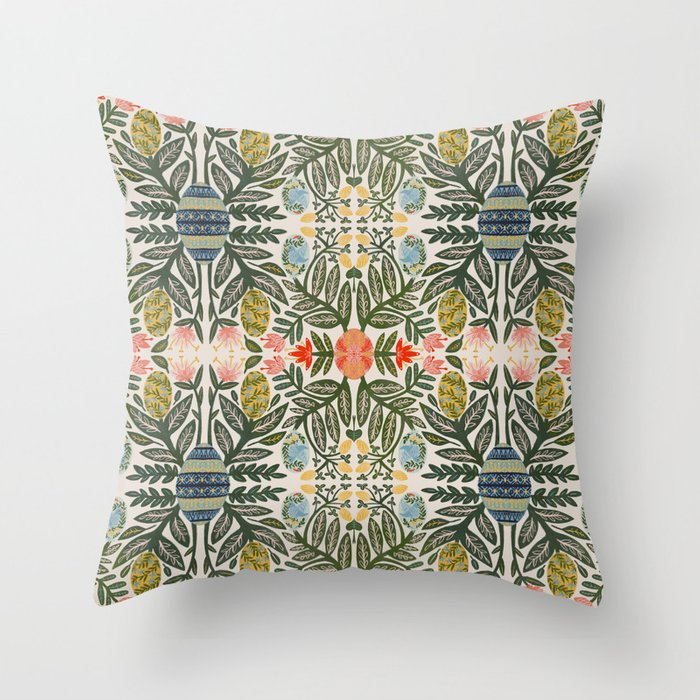 Pyansky Egg Plant Throw Pillow