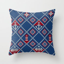 Grandma's knitting pattern for Saylor's Ugly sweater Throw Pillow