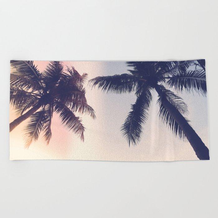 Palm trees Pastel Beach Towel