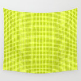 Fresh Lime Grid Wall Tapestry