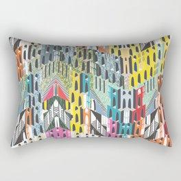 Technicolor Metropolis  Rectangular Pillow