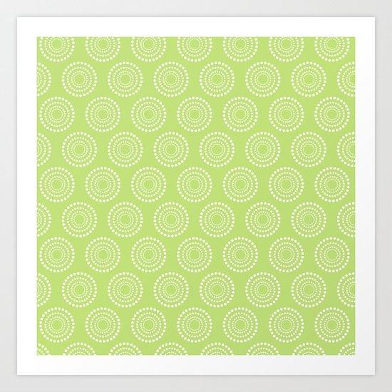 Lime Circle Abstract Art Print