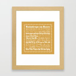 My Favorite Things - Gold Framed Art Print