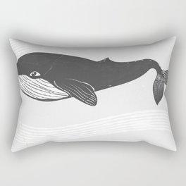 Whale Ink Rectangular Pillow