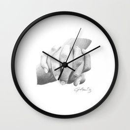 Insieme / Together - Hand Holding or Holding Hands Wall Clock