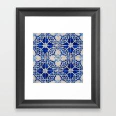 Portuguese Azulejos Framed Art Print