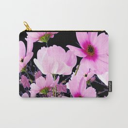 DELICATE PINK-FUCHSIA COSMO BLACK ART Carry-All Pouch