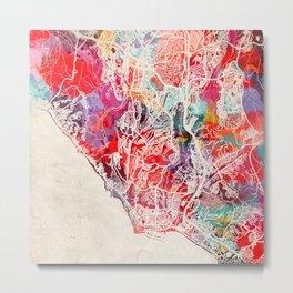 Laguna Niguel map California CA Metal Print