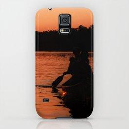 Sunset Canoe iPhone Case