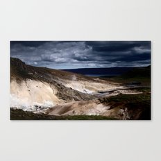 geothermal activity Canvas Print