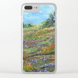 Where The Poppies Grow, Impressionism Painting Clear iPhone Case