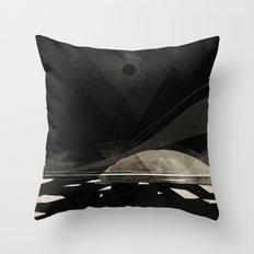 the white shore Throw Pillow