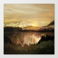 sunrise Canvas Prints featuring Sunrise by Viviana Gonzalez