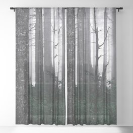 Misty Mountain Woods Sheer Curtain