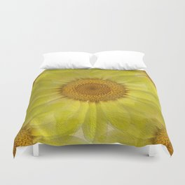 Sunny Day Daisy Floral Abstract Duvet Cover
