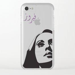 فيروز Clear iPhone Case