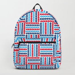 AFE Abstract Basket Weave Backpack