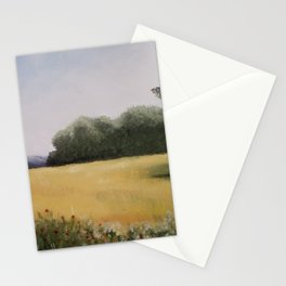 Autumn Field - Original Painting by Tracy Sayers Trombetta - Shades of Monet Stationery Cards