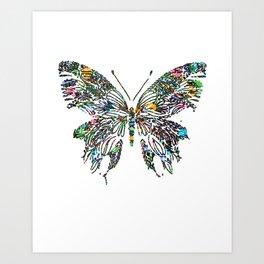 Butterfly Digital Drawing Art Print