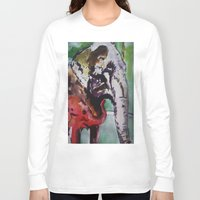 baby elephant Long Sleeve T-shirts featuring baby elephant & big elephant by Dan Feit