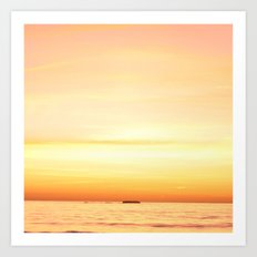 Sunset Over the Pacific II Art Print