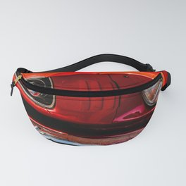 Old red american car Fanny Pack