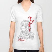 eddie vedder V-neck T-shirts featuring Eddie by Alec Goss