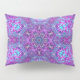 Pink, Purple, and Blue Mandala Pillow Sham