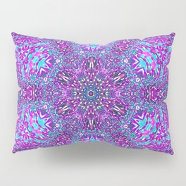 Pink, Purple, and Blue Mandala Pillow Sham