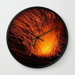 Golden Firework Wall Clock
