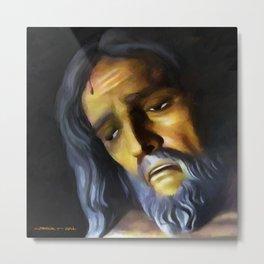 Jesus Christ Crucified Metal Print