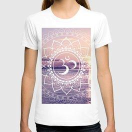 Om Water Mandala Lavender Mauve T-shirt