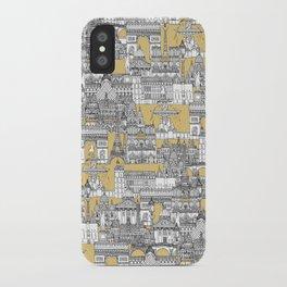 Paris toile gold iPhone Case