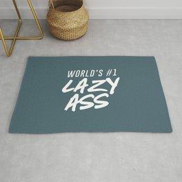 World's #1 Lazy Ass Ver. 2 Rug