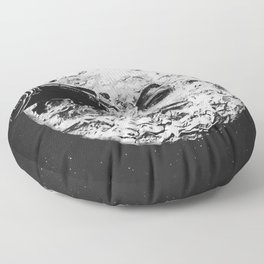 A Trip To The Moon Floor Pillow