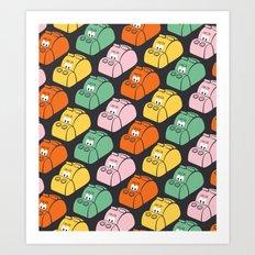 Hungry Hungry Pattern Art Print