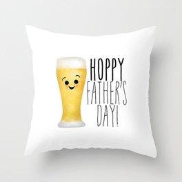 Hoppy Father's Day Throw Pillow