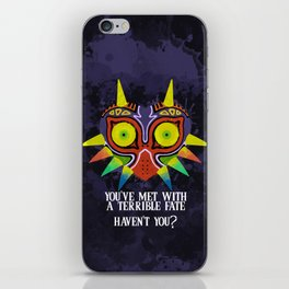 Majora's Mask Splatter (Quote) iPhone Skin