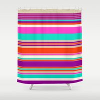 bubblegum Shower Curtains featuring Bubblegum by Rachel Bouch
