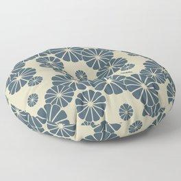 Blue Floral Japanese Pattern 2 Floor Pillow