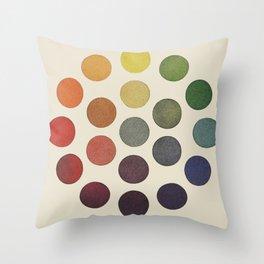 'Parsons' Spectrum Color Chart' 1912, Remake Throw Pillow