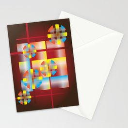 Plaid Circles Stationery Cards