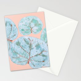 Tropical Sea Grape Leaves Stationery Cards