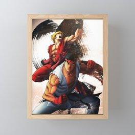 Ryu an Ken Framed Mini Art Print
