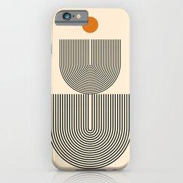 Abstraction_SUN_LINE_HARMONY_POP_ART_Minimalism_017S iPhone Case